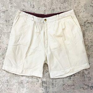 Vintage Adolfo | Ivory White Men's Rolled Shorts
